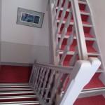 Couloir menant aux chambres de l'hôtel