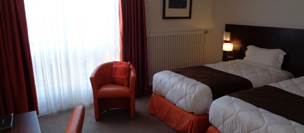 Chambre twin hotel de Montaulbain Verdun
