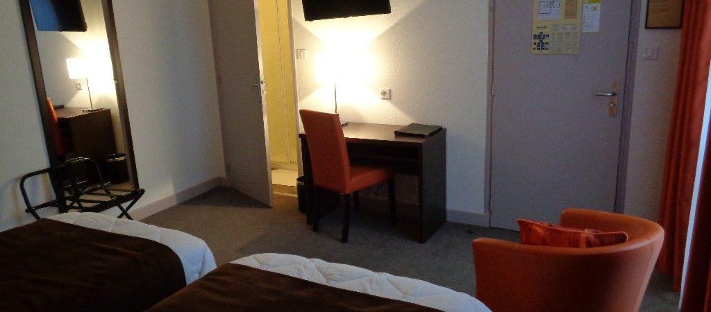 Chambre twin hotel Verdun de Montaulbain