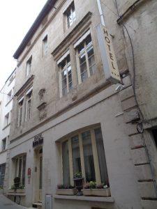 Extérieur de l'hôtel de Montaulbain porte d'entrée