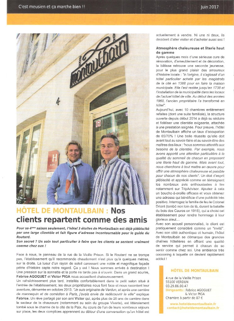 article journal verdun hotel france